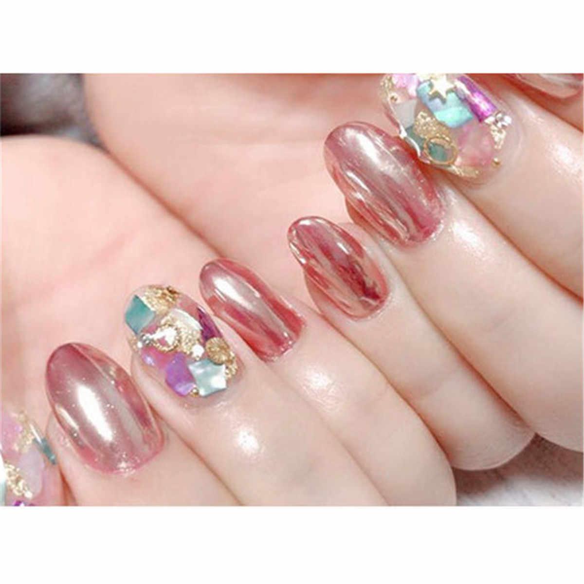 4c76243ba5 Rose Gold Nail Powder Metallic Nail Art Sparkles Glitter Dust Mirror  Pigment Ultra Thin Chrome Elegant for Manicure Makeup Tools