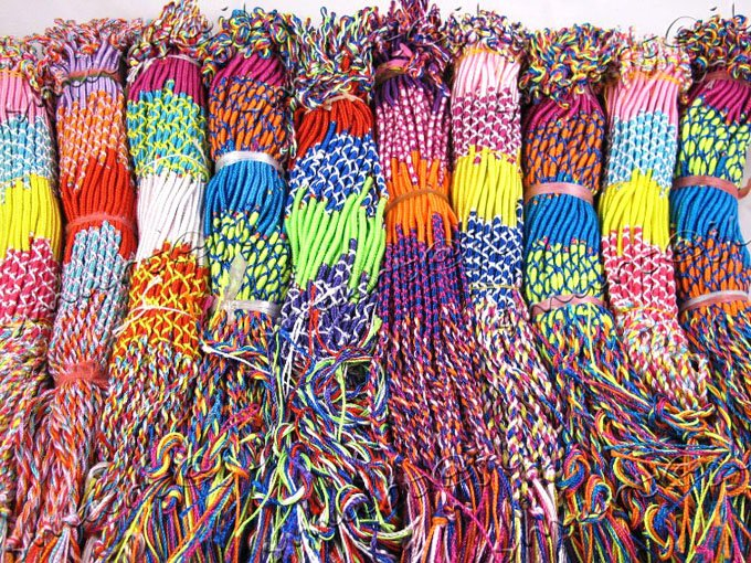 Bulk Jewelry Wholesale Wholesale 500pcs Lot Mixed Colorful Macrame Woven Rope