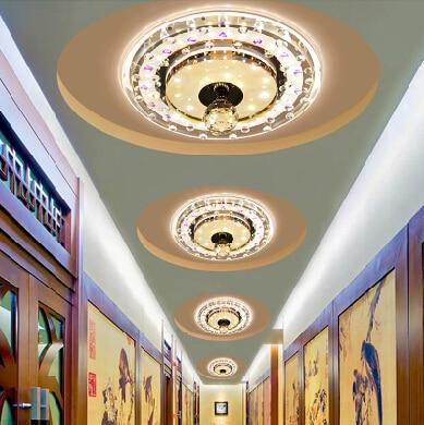 12W Morden ceiling light spot lighting living room crystal lamp balcony lampshade light fixtures AC110V 220V 230V 240V abajur