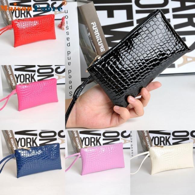 Maison Fabre Jasmine Women Crocodile Leather Clutch Handbag Bag Coin Purse Wallet 0118 drop shipping