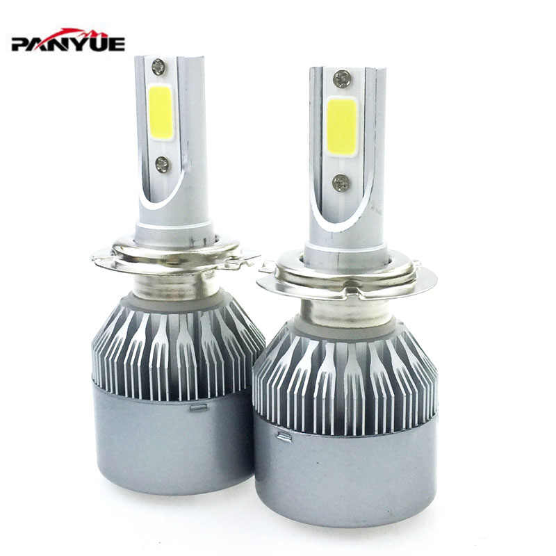 Elglux 72W COB H7 H1 H4 H3 H11 H8 9005 9006 9007 9012 880 Bulb Headlamp Light Golden Car HeadLight Bulbs 3000K 6000K Led lamp