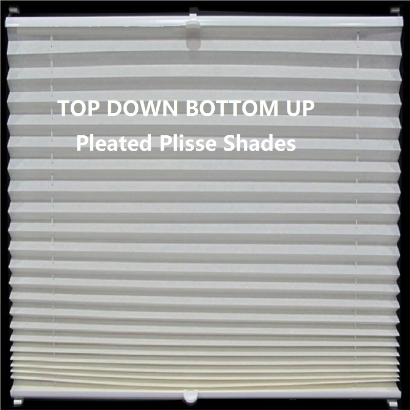 Moderne Popular Pleated Plisse Blinds Shades Curtain Top down bottom up UW-81