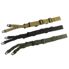 цена на Tactical 2 Point Rifle Sling Adjustable Bungee Hunting Airsoft Sling Strap Two Point Gun Sling Military Rifle Strap 30-0004