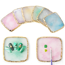 Natural Resin Stone Nail Art Plate Gel Polish Tips Holder Drawing Painting Color Pigment Holder Palette Nail Art Display Tool 12colors lot painting gel drawing pigment acrylic gel uv nail polish for nail art decoration color paint drawing pigment kit