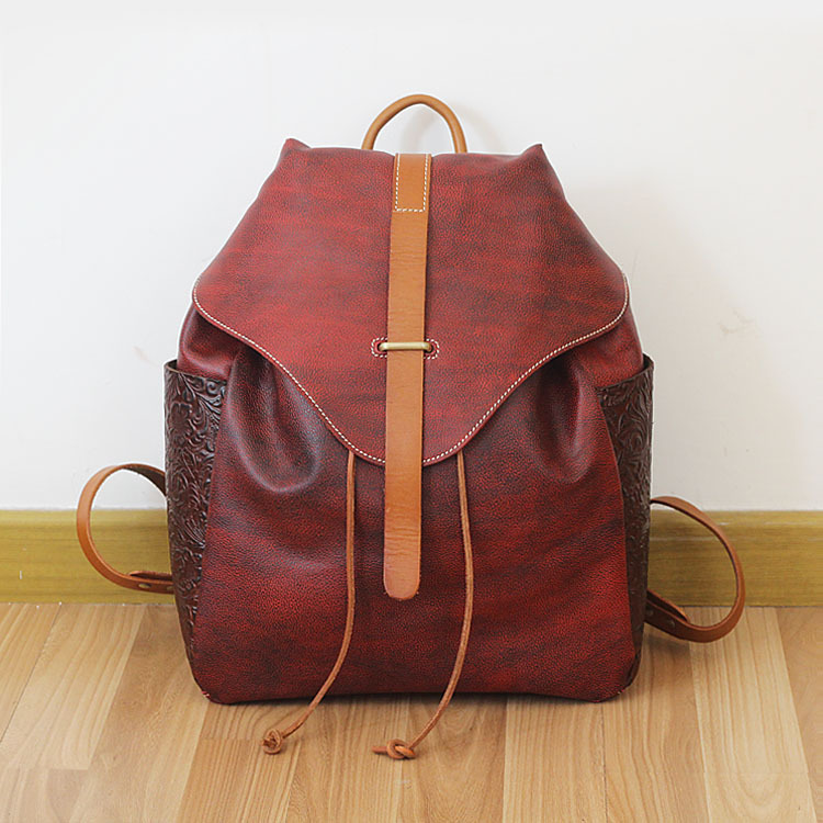 Brand Vintage 100% Genuine Cow Leather Womens Daily School Backpack IPAD Backpacks Rucksack for Travel Casual Mochila Masculina simline brand vintage casual 100