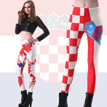 2016 Women Star selling digital printing Flag of Croatia wholesale sexy Leggings Legin Wholesale