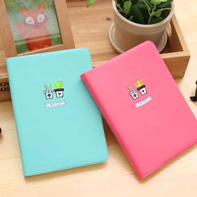 Sunshine blossom macaron color leather notebook personal agenda organizer diary weekly planner notepad gifts korean stationery