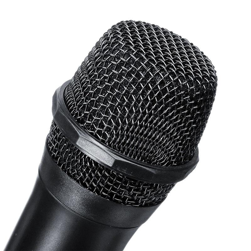 Système de Microphone sans fil double Microphone à main sans fil Kit de Microphone sans fil professionnel 2 canaux pour karaoké en Studio - 3