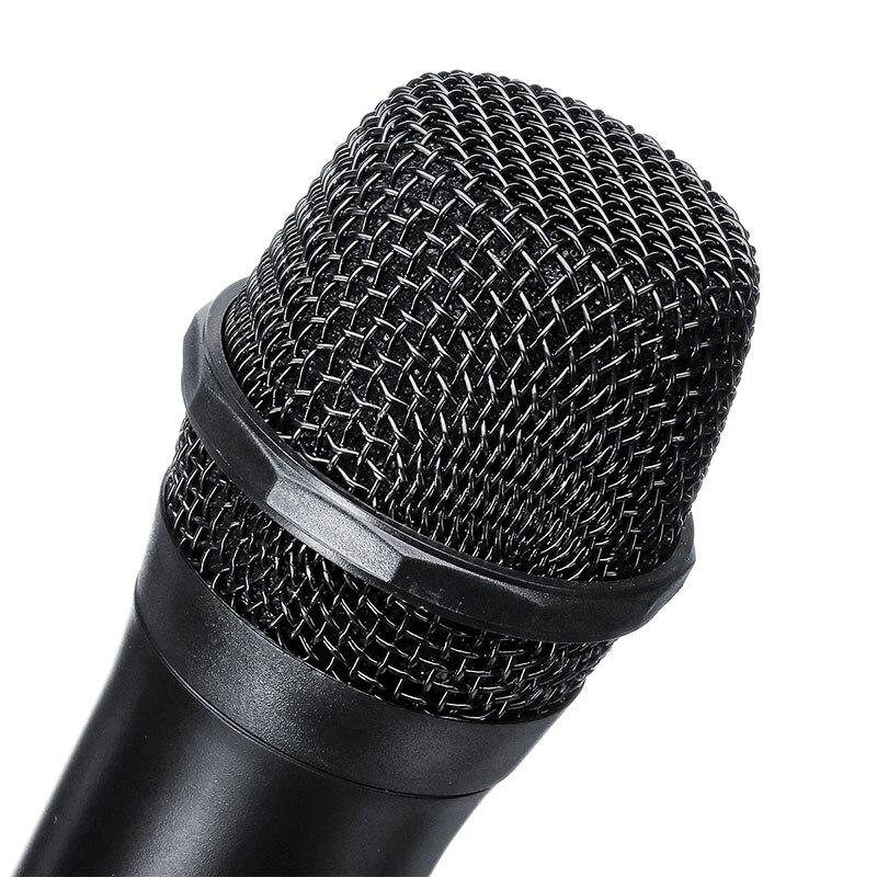 Système de Microphone sans fil professionnel UHF double microphone à main sans fil Kit de micro sans fil 2 canaux pour karaoké en Studio - 3