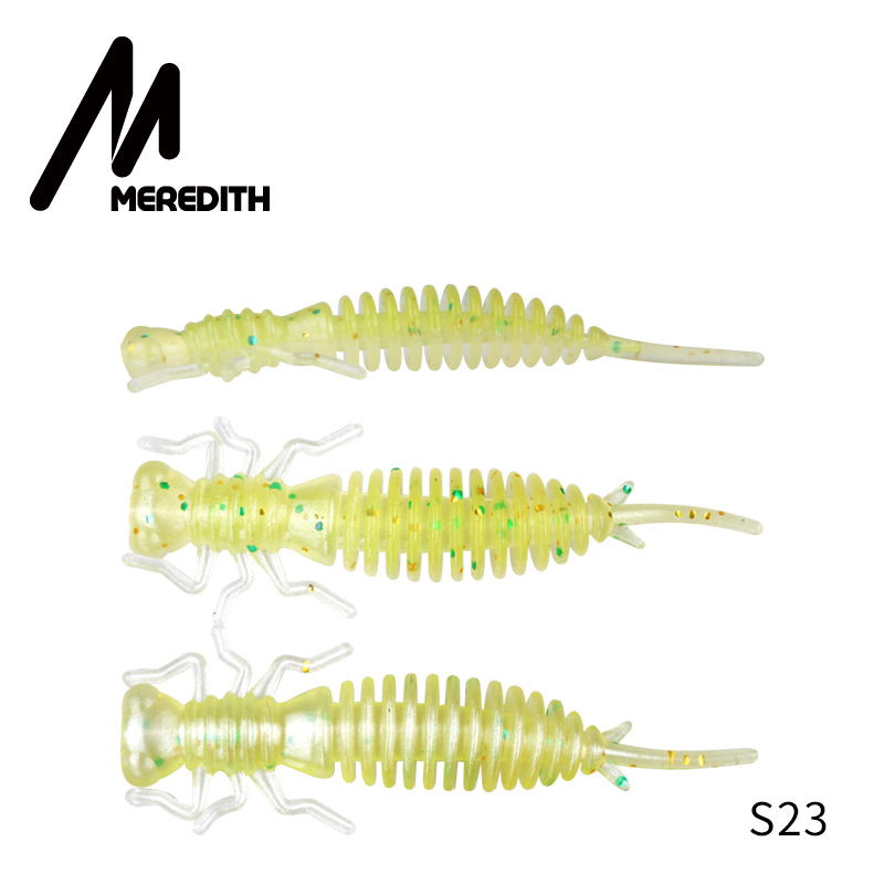Мягкие приманки MEREDITH Larva, 50 мм, 62 мм, 85 мм, искусственные приманки, силиконовая приманка для ловли червя, приманка для ловли щуки, гольян, плавающая приманка, пластиковые приманки - Цвет: S23