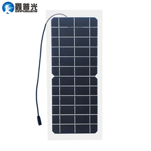 Xinpuguang 10W 6V Solar Panel Semi Flexible Alligator Transparent Laminated Mono Cell Module 3.7V Battery Cellphone DC Adapter