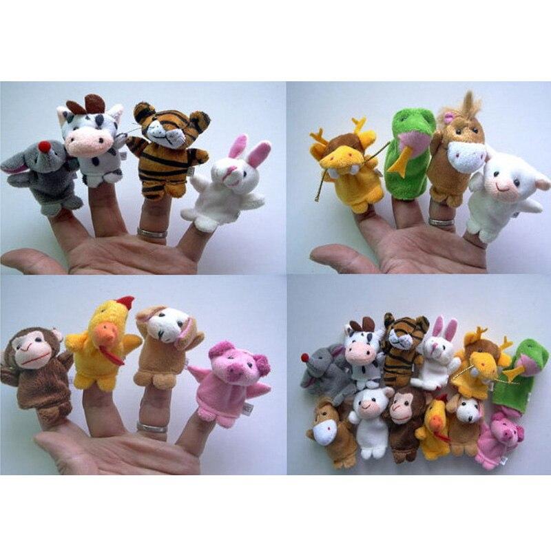 Finger Puppets Kids Toys Tell Story Props Zodiac Animals Children Gift Animal Doll Christmas Baby Children Furniture Sets 12 Pcs