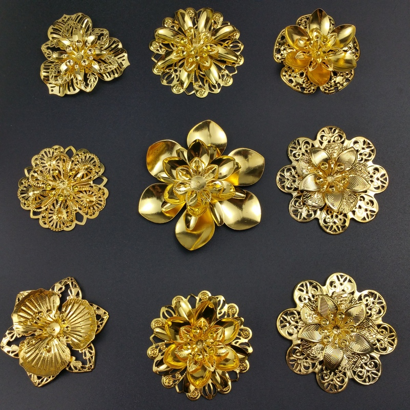 Lovely Gold Combination  Filigree Flower Connectors Embellishments Findings Crafts Gift Decoration