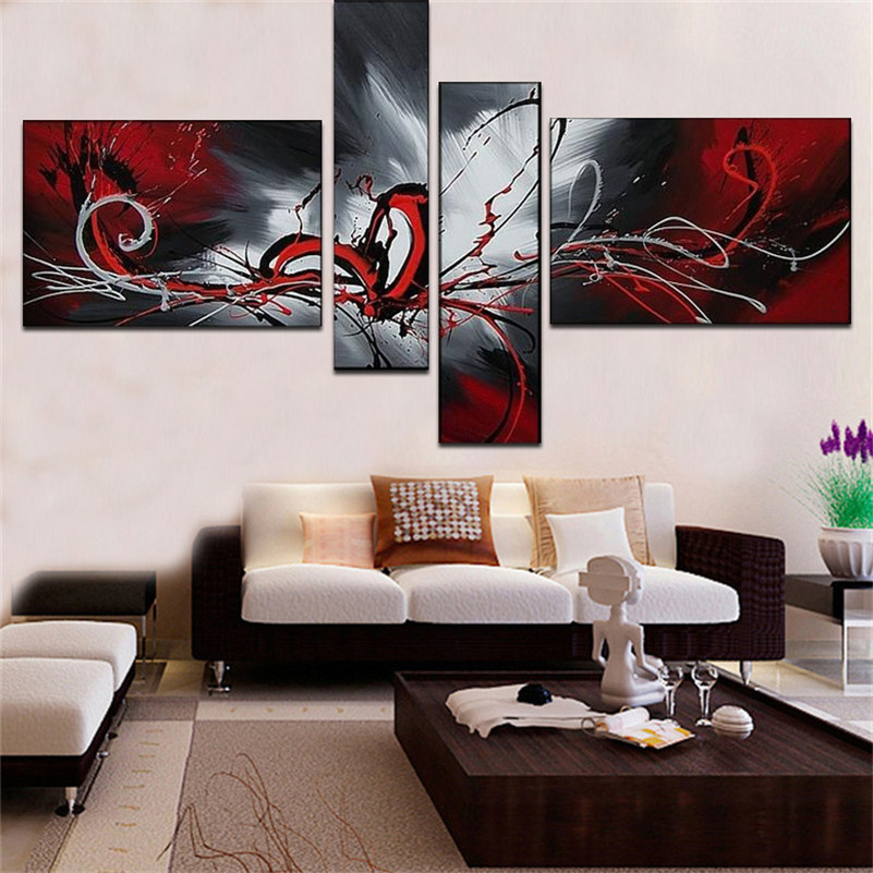 set, Landscape, Painting, Wall, Beautiful, Hand-painted