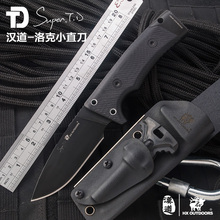 D2 steel outdoor camping hunting tactical knife Flintstones G10 handle Tactical pocket survival knives Utility EDC tools TD-01