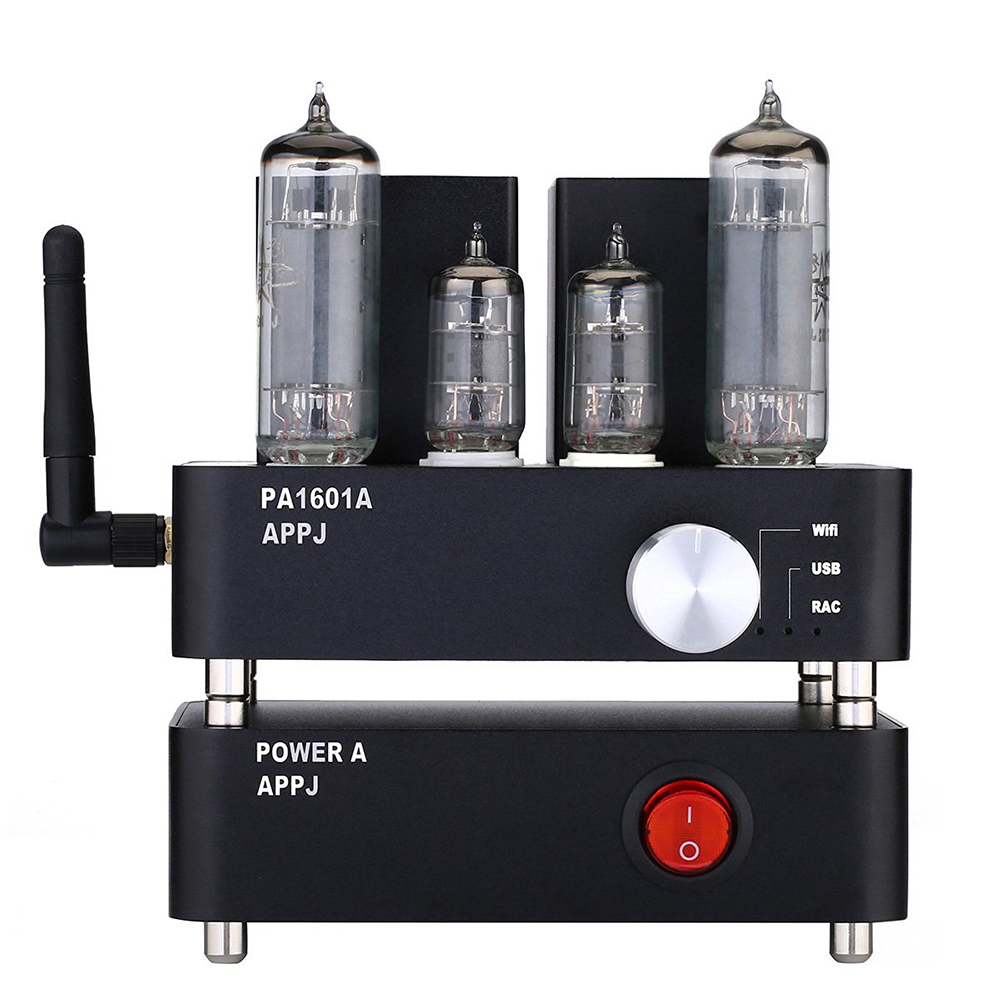 2016 Brand New APPJ PA1601A 6J1+ 6P4 HIFI Wifi Vacuum Tube Amplifier Desktop Digital Audio Tube AMP Hi-fi Lossless Music Player brand new appj pa1601a vintage mini 6j1 6p4 tube amplifier desktop wifi usb sd card player 3w 3w silver