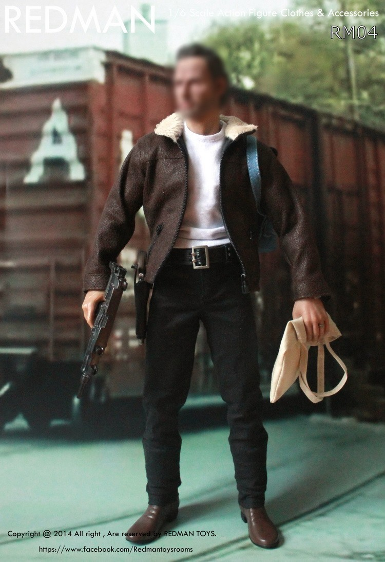 1/6 figure doll clothes male The Walking Dead Rick Sheriff Leather suit 12 Action figure doll accessories not include doll брелок автосигнализации sheriff 2500 ver 1