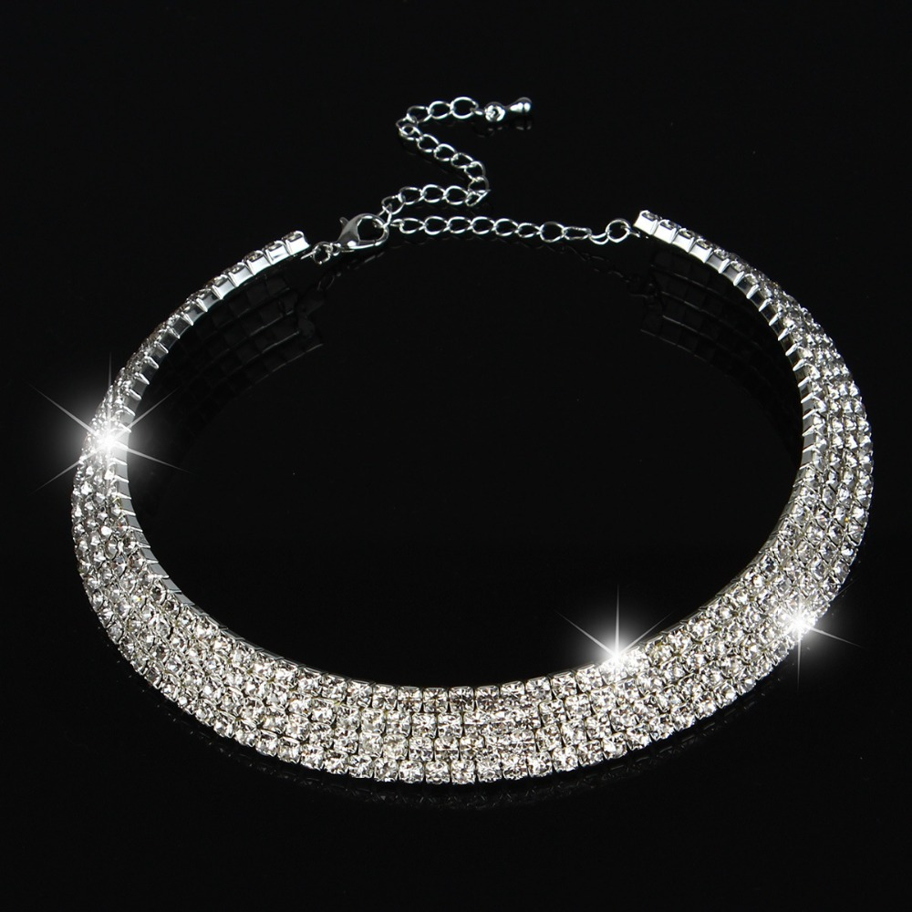 Wedding Jewelry Set Collar Choker Necklace ... Prom Jewelry Wedding Bridal  Crystal Necklace ...Do you think you can rock this item  ... a6685eee7b63