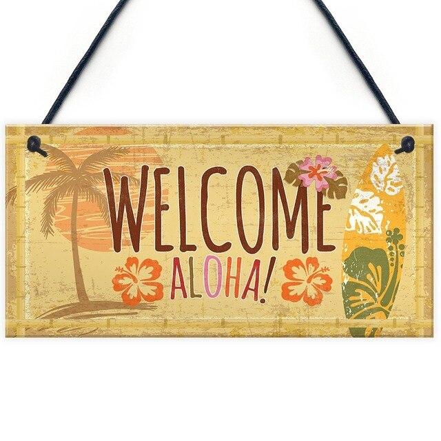 Meijiafei Tiki Bar Welcome Hanging Wall Plaque Garden Home Pub Sign Friendship Alcohol Gift 10