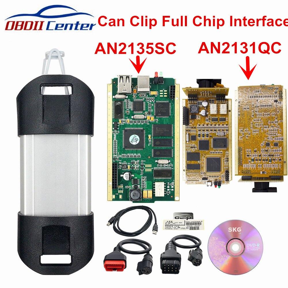 2019 Pode Grampear a relação Diagnóstica V178 Clipe Chip PODE CLIP Ferramenta De Diagnóstico Ferramenta de Scanner de Diagnóstico Completo AN2131QC AN2135SC Chip