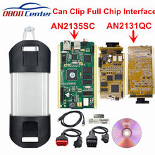 2021 pode clipe de interface de diagnóstico v203 clipe ferramenta scanner diagnóstico chip completo pode clipe ferramenta de diagnóstico an2131qc an2136sc chip
