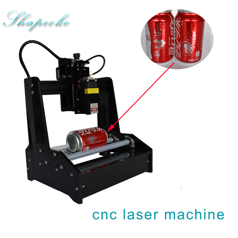 Small Cylindrical Laser Engraving Machine 15w Can Engrave Cylindrical Stainless Steel Automatic DIY Cutting Plotter CNC Router