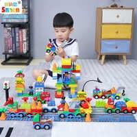 Snaen 106 個市警察交通モデルビルディングブロック教育趣味おもちゃ建設レンガ子供のための互換性 Legoed