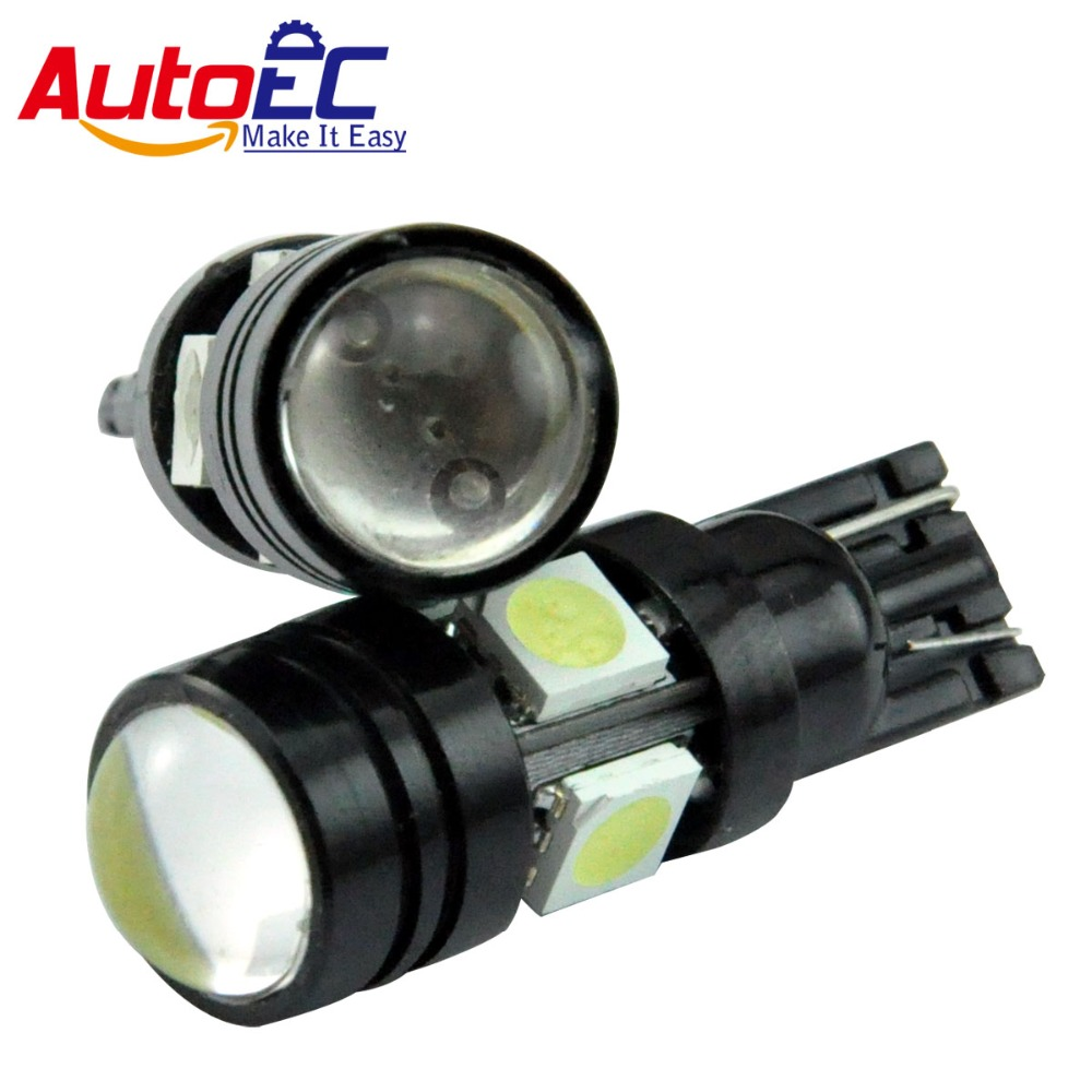 Tricolour Trading GZ Co.,Ltd AutoEC 4pcs T10 194 168 W5W 6000K LED Car Auto Parking Reverse Lamp With Projector Lens Automobiles lamps DC12V #LB112