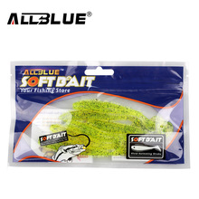 ALLBLUE 2017 80mm/4.2g Vivid Soft Lures 6pcs/lot Artificial Fishing Bait Swimbait Fishing Worm Fishing Tackle Fishing Lure Peche