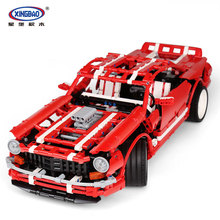 XingBao 07001 2000Pcs Creative MOC Series The 2014 Muscle Car Set children Educational Building Blocks Bricks Toy Model