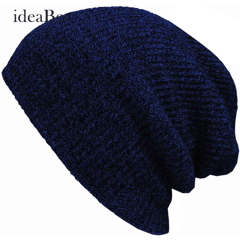 ideacherry Baggy Beanie Hat Crochet Slouchy Oversized Cap Warm Skullies Touca Gorro Winter Casual Cotton Knit Hats Women Men winter casual cotton knit hats for women men baggy beanie hat crochet slouchy oversized ski cap warm skullies toucas gorros 448e
