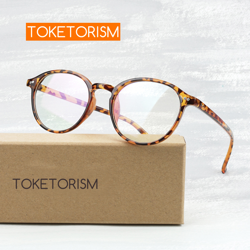 Toketorism Leopard Eye Glasses Frames For Women And Men Vintage Prescription Glasses Frames Clear Lenses 7822