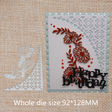 Lace and flower Cutting Dies Tag Scrapbooking Metal for Card Making Label Craft Album Embossing Stencil