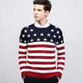 2016 Новый стиль полосатый мода марка одежды с длинным мужчины polo дешевые мужские свитера пуловеры кашемировый свитер мужской