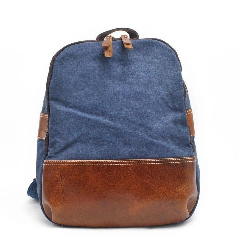 Fashion Vintage Canvas Laptop backpack Women and Men Casual School Bag Outdoor camping bag Travel  Shoulder backpacks mochila