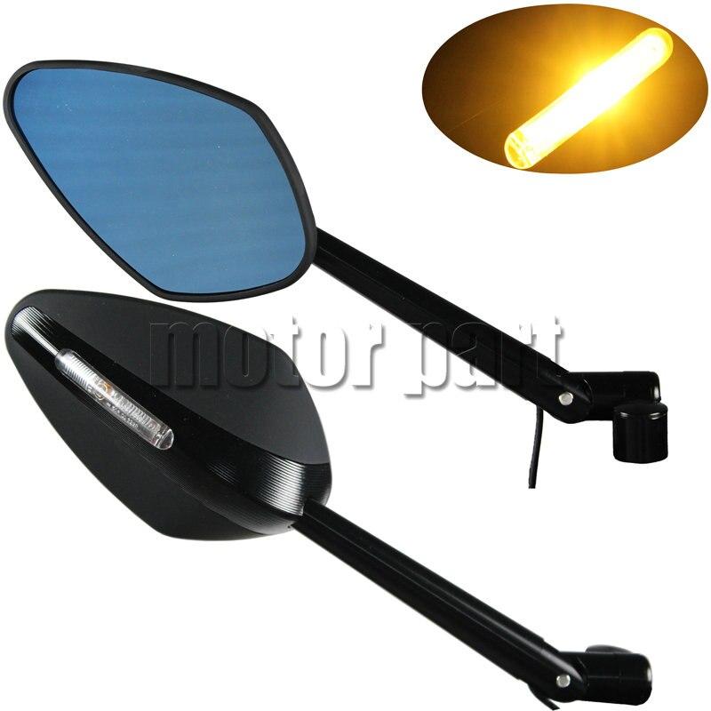 Led Turn Signals Integrated light CNC Rearview Mirrors For Honda VTR250 CB400 SF CBF500 CBF600 CB1000R CB1100 X11 X4 CB 750 500