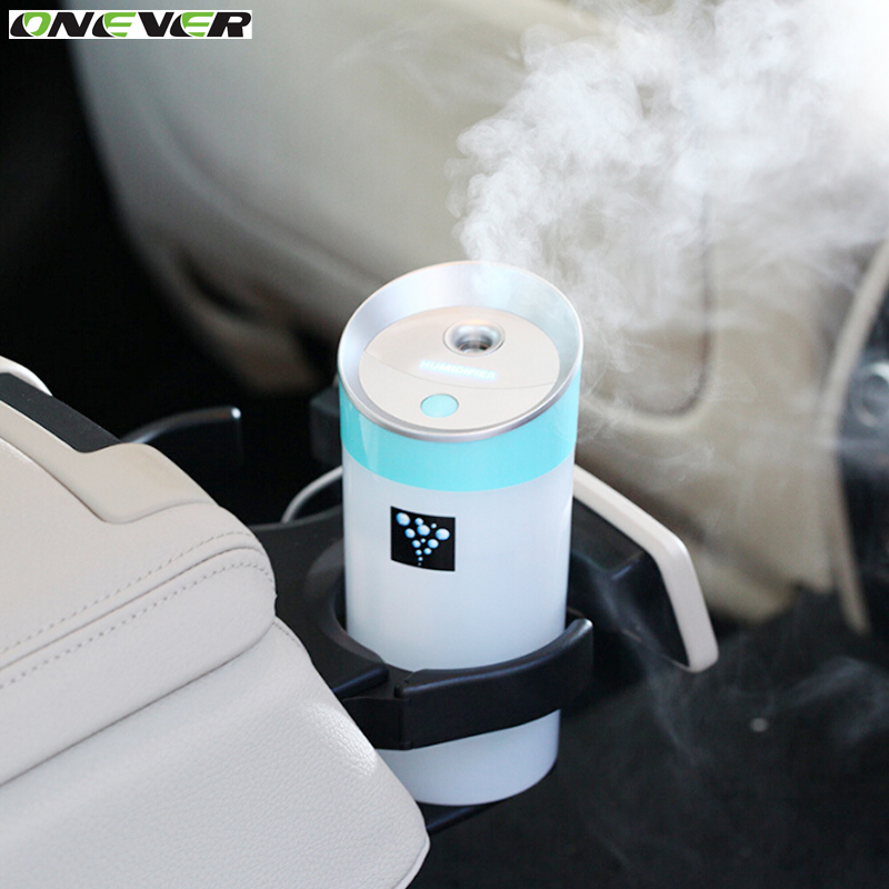 imágenes para Onever nuevo mini usb 300 ml difusor ultrasónico del anión humidificador de vapor frío Nebulizador Con El Fabricante de La Niebla humidificador Purificador de Aire Del Coche 2 Niebla modos