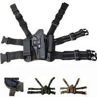 Tactical Combat Glock Pistol Gun Holster Military Hunting Shooting Gun Case Airsoft Leg Holster Fit For Glock 17 19 22 23 31 32