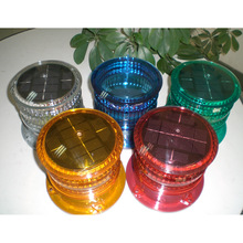 Solar Powered Marine Boat Navigation Light Round Warning for Pier Airport Dock Construction Use