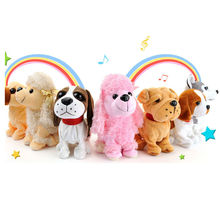 New Sound Control Electronic Pets Interactive Toy Dog Bark Stand Walk Electronic Toys Zoomer Dog For Children Christmas