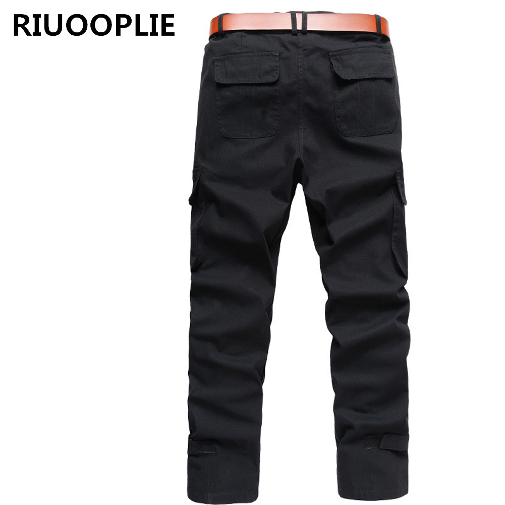 RIUOOPLIE Men Tactical Pants Cargo Casual Combat Military Work Cotton Male Trousers