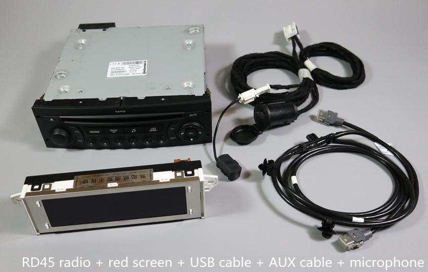 Aplicável para Peugeot e Citroen Auto RD4CD Player Atualização RD45CD Player Suporte a Bluetooth USB Bluetooth Música de Telefone Bluetooth