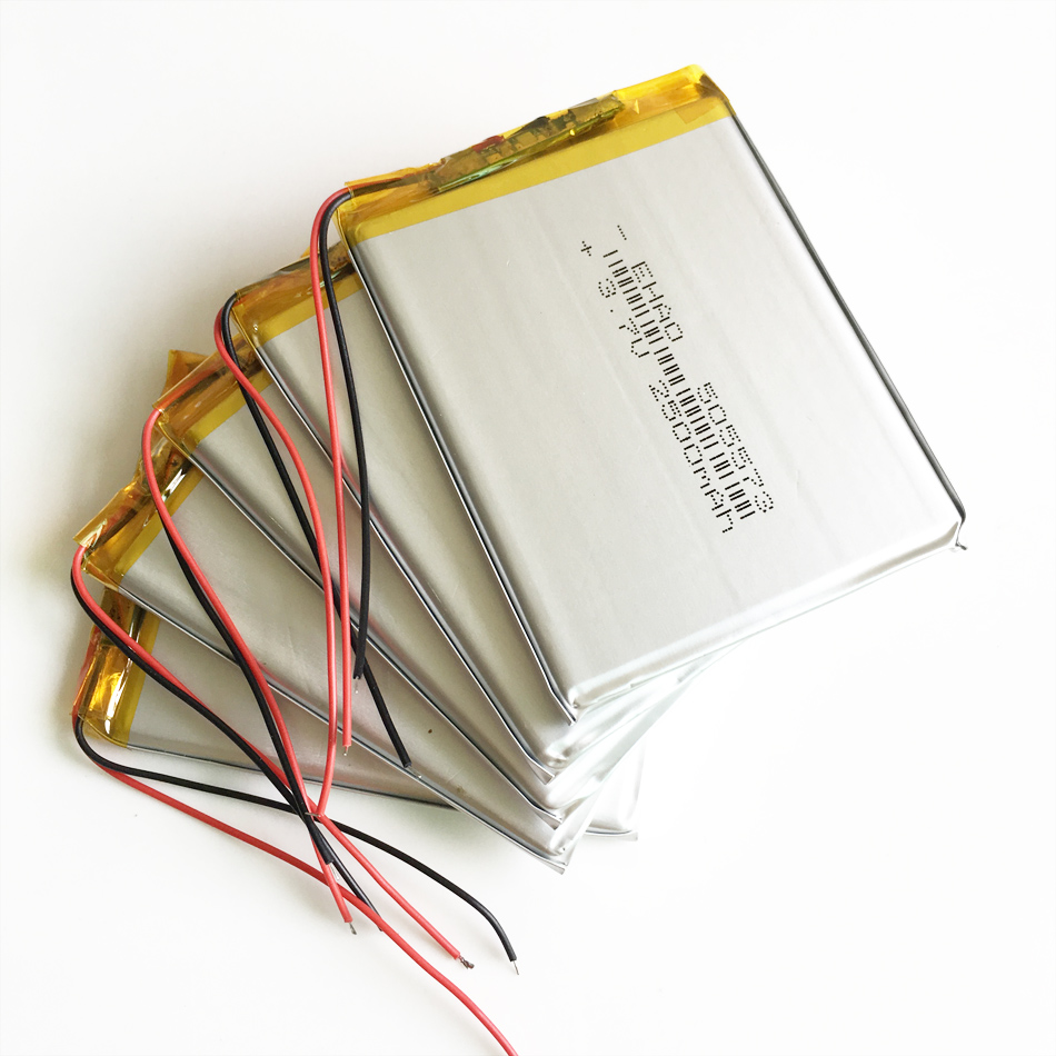 5 pcs <font><b>3.7V</b></font> <font><b>2500mAh</b></font> Lithium Polymer <font><b>Lipo</b></font> <font><b>Battery</b></font> Li ion Rechargeable cells For Power Bank E-books speaker 505573 5*55*73mm image