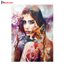 5D Diamond Embroidery Fox Diamond Mosaic Rhinestones Hobby Cross Stitch Family Needlework Full Square Decoration Painting