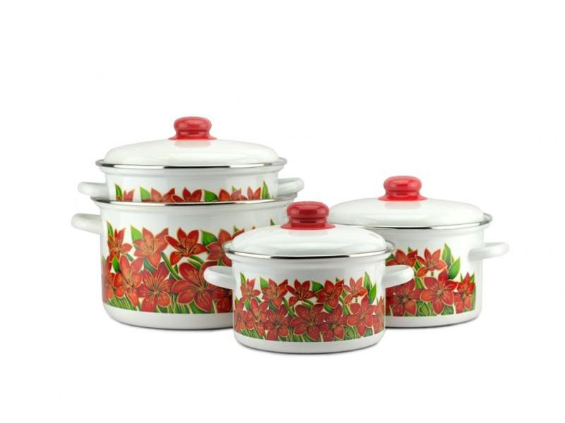 A Set Of pans Enamel, Gift, 8 items specaily colitas quality premium gift box of tea gift set large