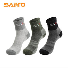 3 Pairs SANTO S008 Outdoor Cotton Socks Mens Sports Quick Dry Spring Autumn Summer Fit to Size 39-43