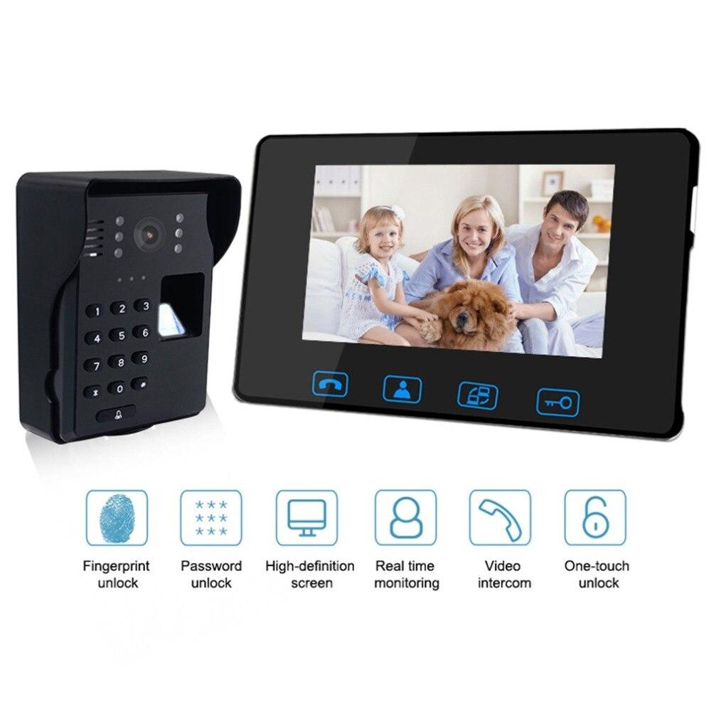 Wifi видео дверной звонок дюймов 7 дюймов беспроводной дверной звонок камера видео глаз дверной звонок Домофон 2,4 ГГц цифровая дверная телефо