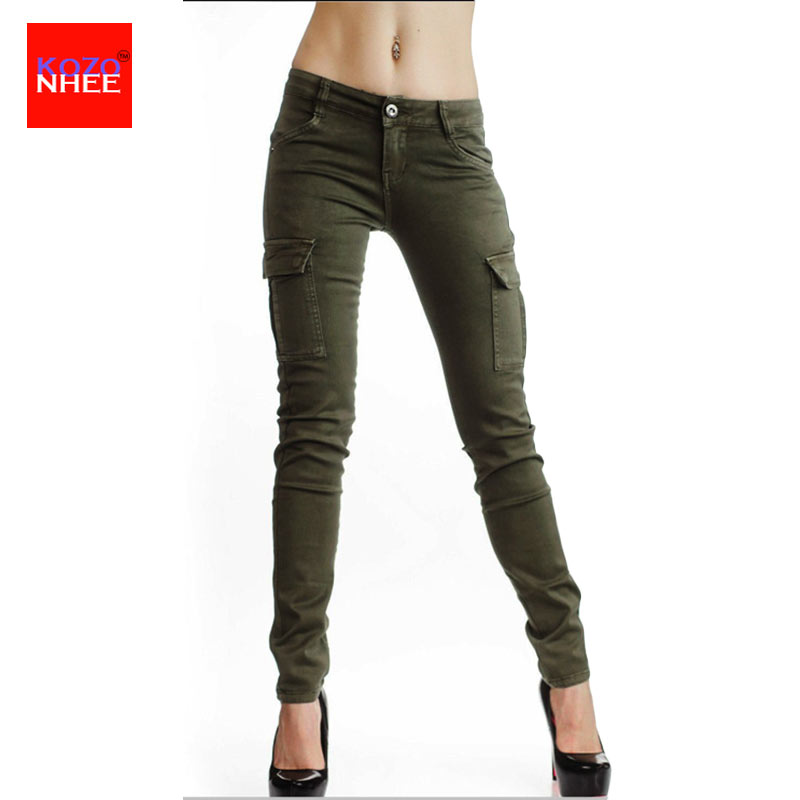 Woman Skinny Big Elasticity Working Trousers With Stretch Jeans For Girls Elastic Female Narrow Jeans Pencil Thin Pants
