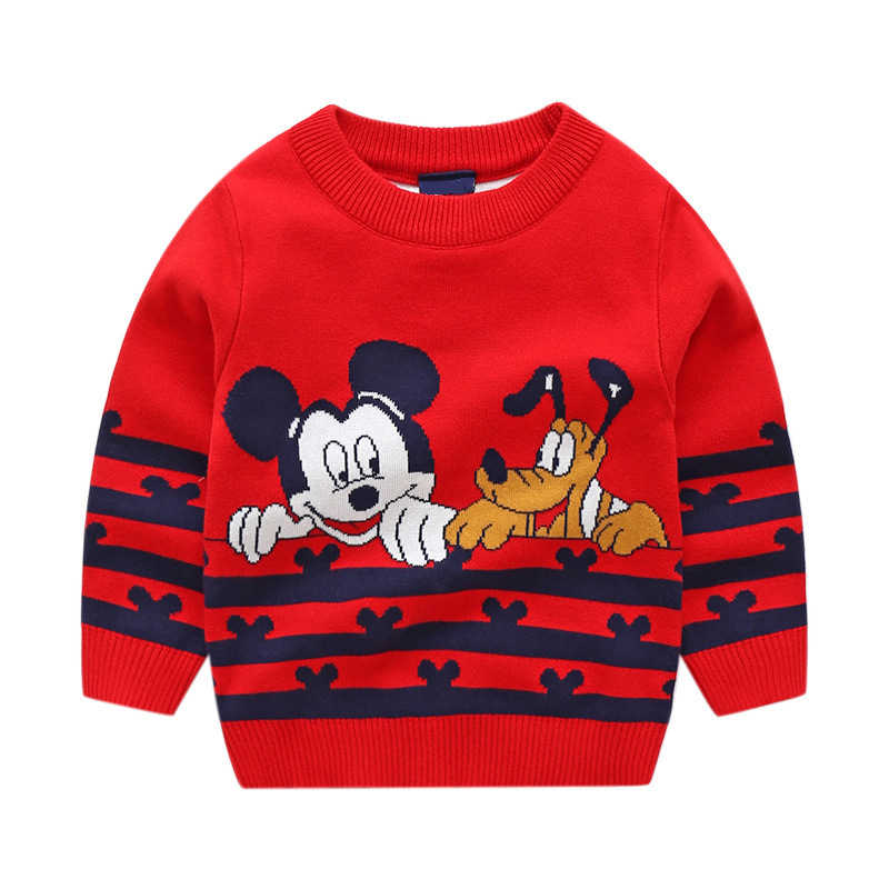84a60ab80 Child Mickey Sweater Baby Kids Girls Clothes Toddler Boy Sweaters Winter  Cartoon Mickey Mouse Designer Sweaters