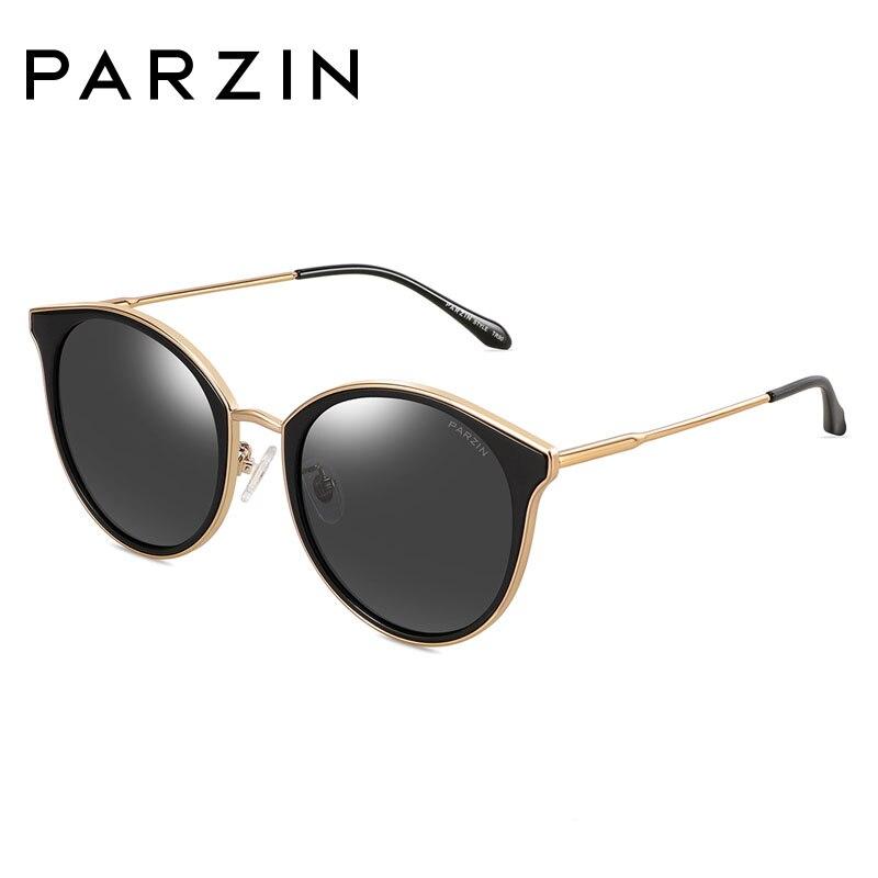 PARZIN pour les femmes de haute qualité mode revêtement coloré miroir marque Design lunettes de soleil polarisées pour la conduite 2019 nouveauté